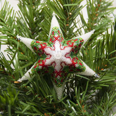 The,Glass,Christmas,Wreath,Star,-,Peyote,Stitch,Beaded,beading,geometric,star,,ornament,peyote,christmas,PDF,tutorial,pattern,instructions,handmade,gift, PDF, tutorial, pattern, geometric, glass christmas wreath star, Tracey Lorraine, Crystal Star Gems & Jewellery