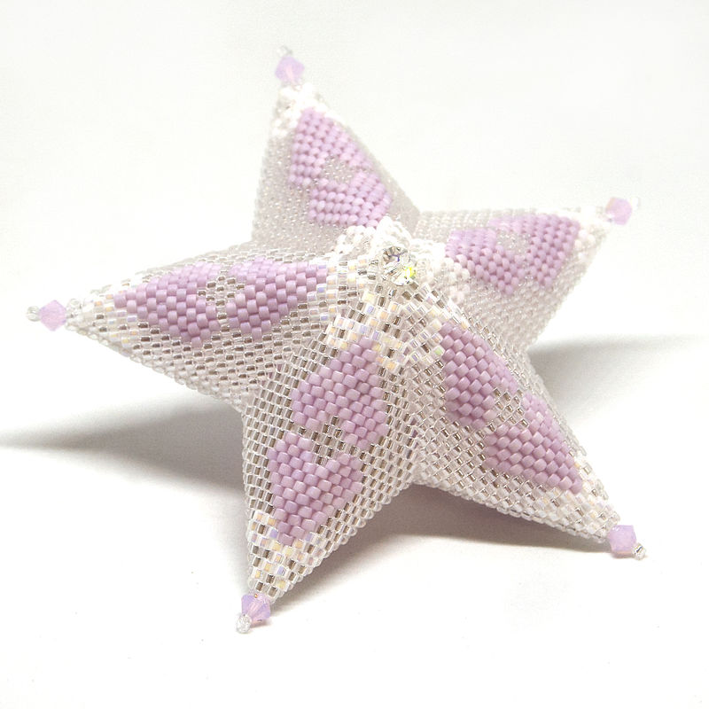 Sweetheart Glass Star beading tutorial - product images