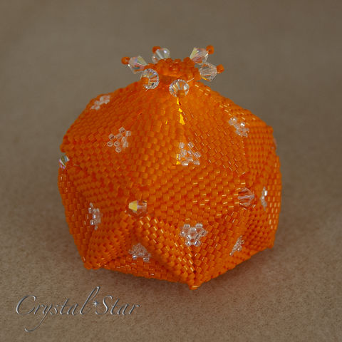 The,Pumpkin,Trinket,Box,-,LED,Lantern,Peyote,Stitch,Beaded,beading,geometric,ornament,peyote,christmas,PDF,tutorial,pattern,instructions,handmade,gift, PDF, tutorial, pattern, geometric, pumpkin trinket box, Tracey Lorraine, Crystal Star Gems & Jewellery, LED lantern
