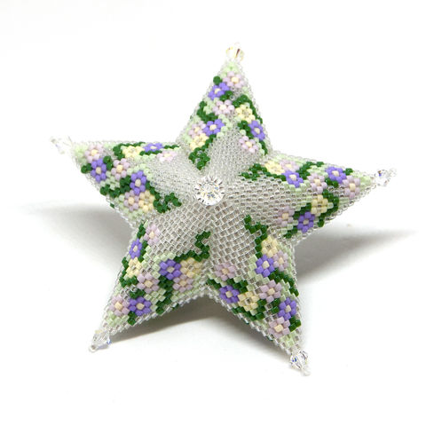 Blossom,Star,beading,tutorial,pattern, tutorial, PDF, Starlight, star, peyote, warped square, Tracey Lorraine, Crystalstargems, Crystal Star,
