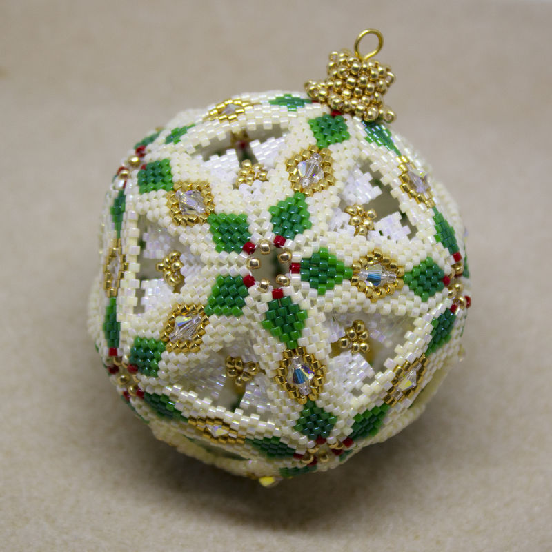 Snow Globe 'Diamond' Christmas Bauble beading tutorial - product image