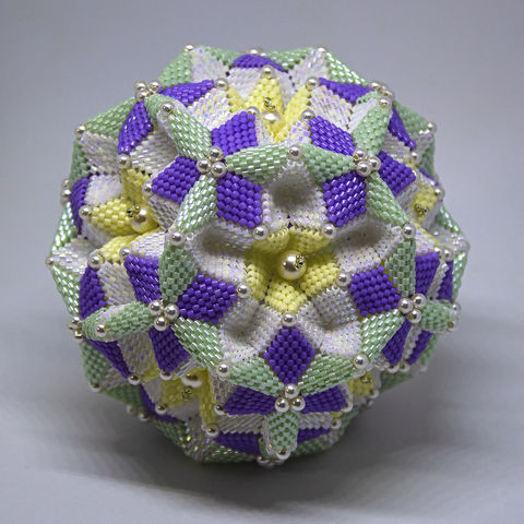 The,Spring,Dodecahedron,Ornament,-,Peyote,Stitch,Geometric,Beadwork,Beaded,beading,geometric,ornament,peyote,PDF,tutorial,pattern,instructions,handmade,gift,sphere,Spring Dodecahedron,tracey lorraine,crystal star,crystalstargems,geometric peyote