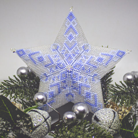 The,Glass,Snowflake,Star,-,Tutorial,Peyote,Stitch,Beaded,beading,geometric,star,,ornament,peyote,christmas,PDF,tutorial,pattern,instructions,handmade,gift, PDF, tutorial, pattern, geometric, glass snowflake star, Tracey Lorraine, Crystal Star Gems & Jewellery