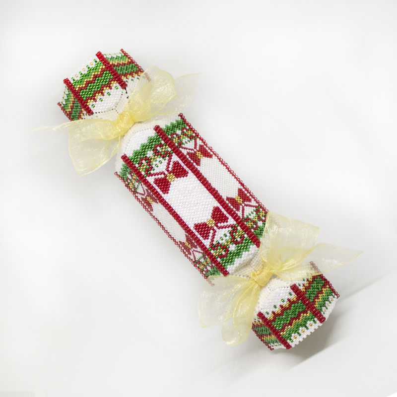 The Christmas Cracker Ornament - Tutorial - Peyote - product image