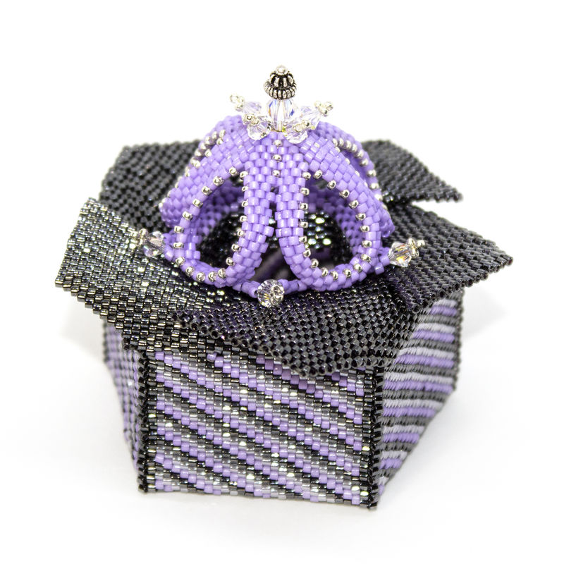 The Windmill Box - Folding Lid - Peyote Stitch & Brick Stitch - product images