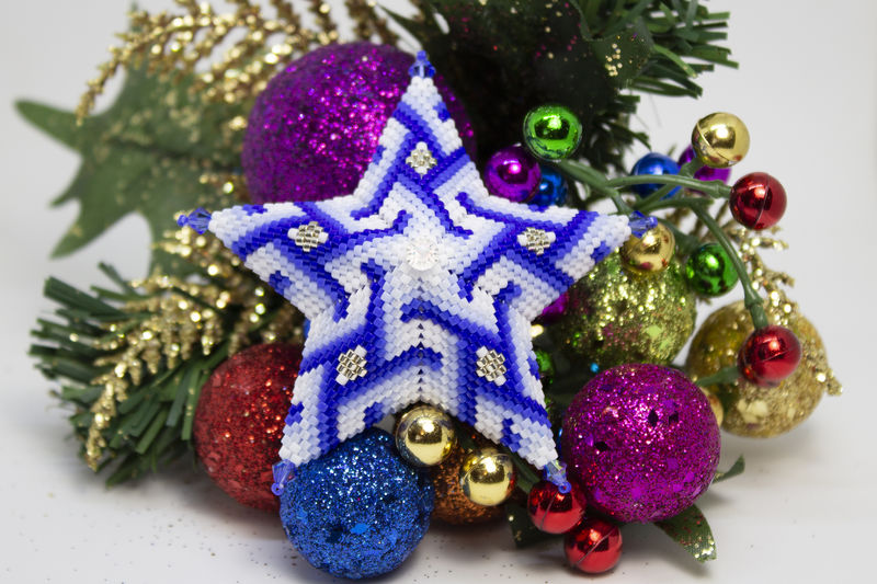 River Star - peyote beading tutorial - product images