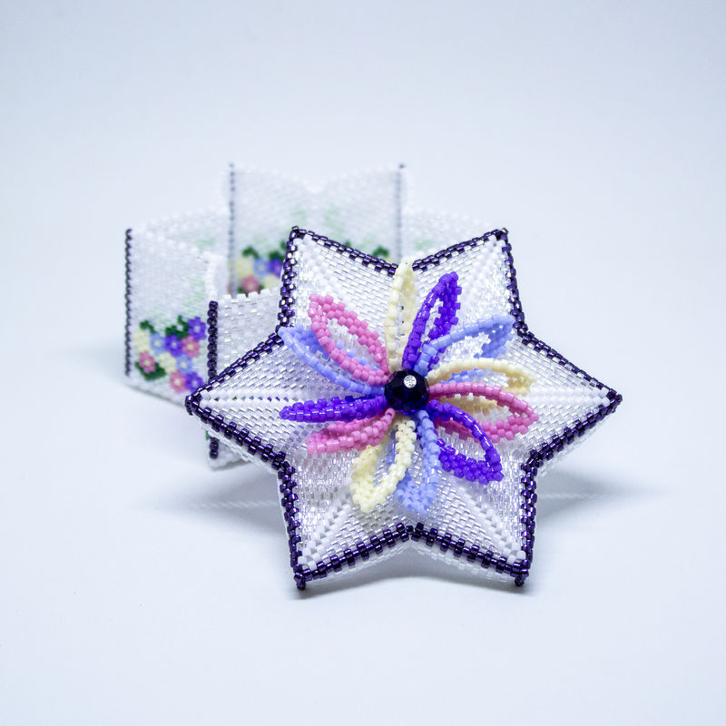 The Star Trinket Box - Tutorial - Peyote Stitch - product image