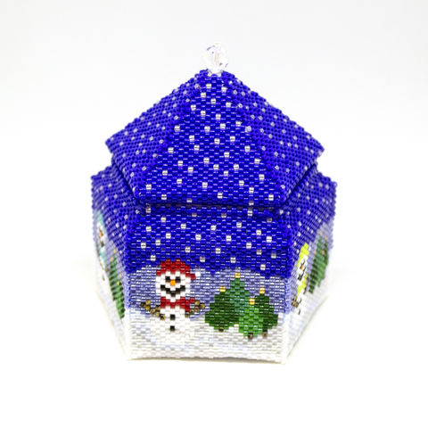 The,Snowman,Trinket,Box,and,LED,Tea,Light,Holder,-,Peyote,Stitch,Beaded,beading,box,trinket,lantern,jewellerystorage,ornament,peyote,christmas,PDF,tutorial,pattern,instructions,handmade,gift, pattern,glass,Tracey Lorraine,Crystal Star Gems & Jewellery,Crystalstargems
