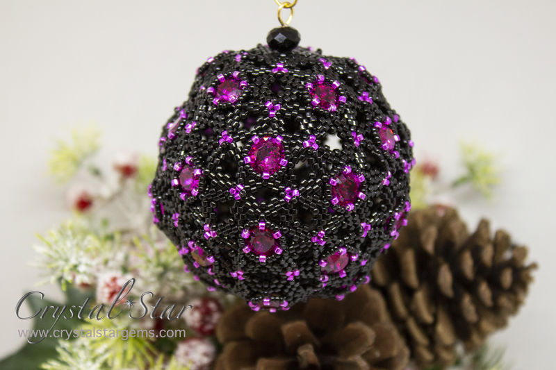 Celestial Christmas Bauble - Tutorial - Peyote - product image