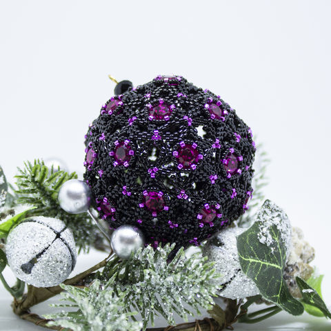 Celestial,Christmas,Bauble,-,Tutorial,Peyote,Beaded,beading,ornament,peyote,christmas,PDF,tutorial,pattern,instructions,handmade,gift, pattern, peyote, truncated icosahedron,Tracey Lorraine,Crystal Star Gems & Jewellery,Crystalstargems