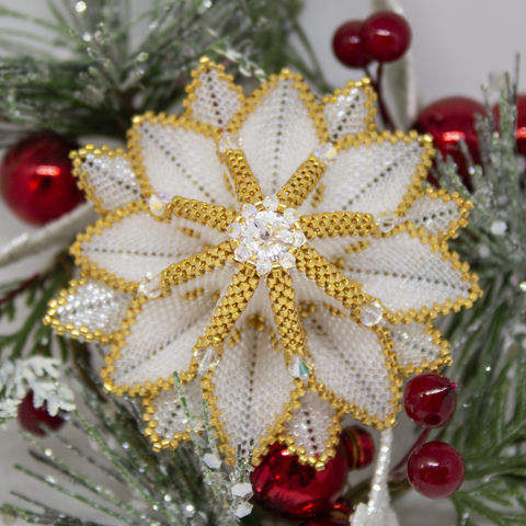 The,Sunburst,Ornament,-,Tutorial,Peyote,Beaded,beading,sunburst,geometric,ornament,peyote,PDF,tutorial,pattern,instructions,handmade,gift,,Tracey Lorraine,Crystal Star Gems
