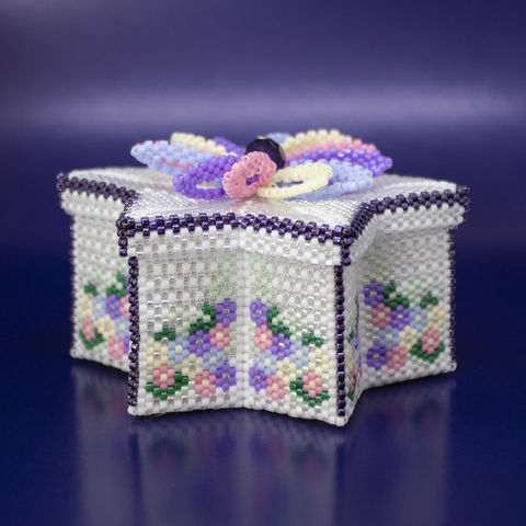 The,Star,Trinket,Box,-,Tutorial,Peyote,Stitch,Beaded,beading,geometric,box,trinket,ornament,peyote,christmas,PDF,tutorial,pattern,instructions,handmade,gift, pattern,glass,Tracey Lorraine,Crystal Star Gems & Jewellery,crystalstargems