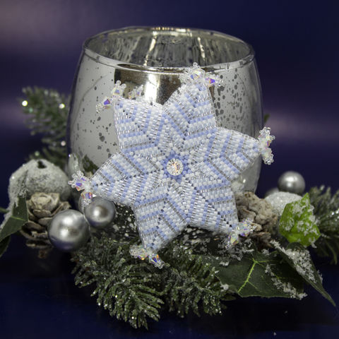Winter,Star,beading,tutorial,pattern, tutorial, PDF, winter star, star, peyote, six pointed star, Tracey Lorraine, Crystalstargems, Crystal Star