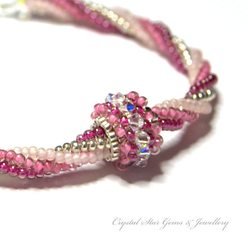 Beadwork bracelet - Ndbele Twisted Herringbone - product image