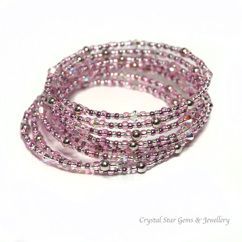 Pink Memory Wire Bracelet - product image