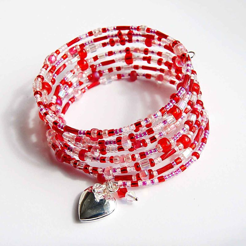 Red Memory Wire Bracelet - product image