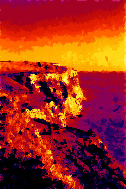 Greetings Card - Dark Cliffs - product image