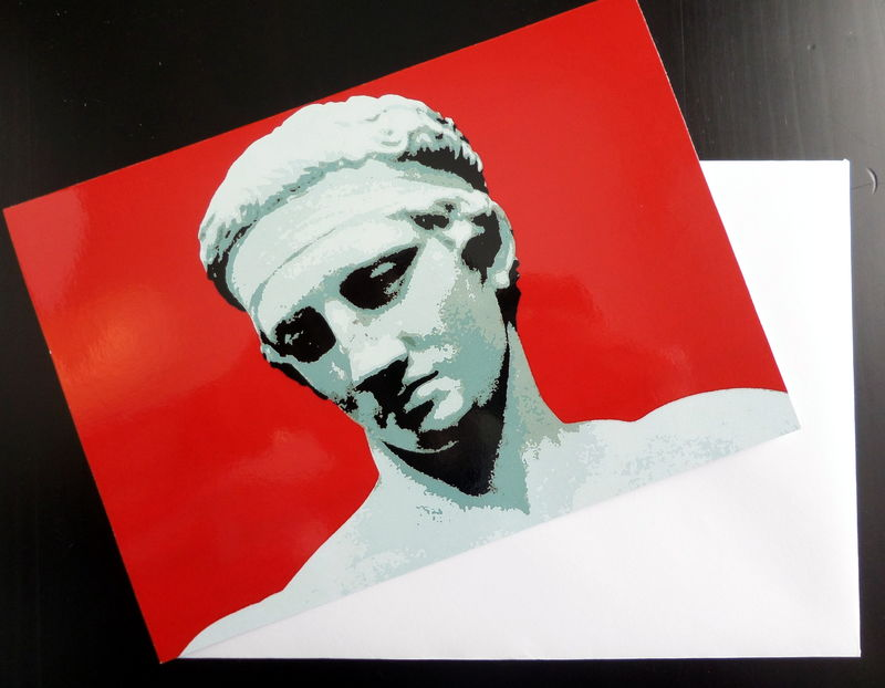 Greetings Card - Diadoumenos, ancient Greek athlete - product image