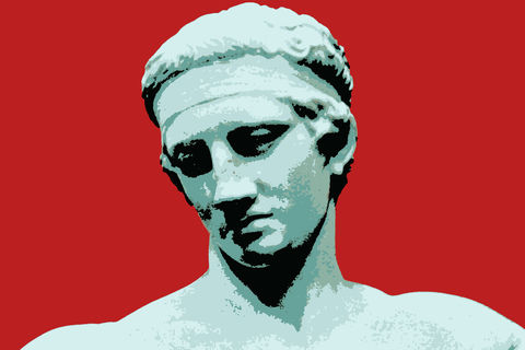 Greetings,Card,-,Diadoumenos,,ancient,Greek,athlete,greetings card, birthday card, notecard, digital art, digital image, diadoumenos, ancient greek athlete, classical statuary, ancient history, greek mythology, male portrait, gay art