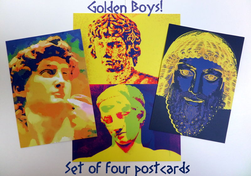 Set of Four Postcards - Golden Boys! - product image