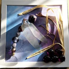 Beaded Beasties, Purple Profile Dragonfly Box Frame - product images 5 of 5