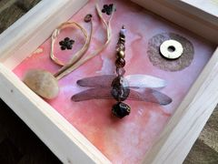 Peach Glow, Beaded Beasties Dragonfly Box Frame - product images 2 of 5