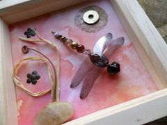 Peach Glow, Beaded Beasties Dragonfly Box Frame - product images 3 of 5