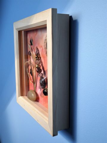 Peach Glow, Beaded Beasties Dragonfly Box Frame - product images 1 of 2