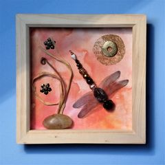 Peach Glow, Beaded Beasties Dragonfly Box Frame - product images 5 of 5
