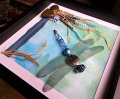 On Azure Wings, Beaded Beasties Dragonfly Box Frame - product images 3 of 4
