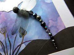 Night Flight, Beaded Dragonfly Box Frame - product images 3 of 5