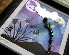Night Flight, Beaded Dragonfly Box Frame - product images 2 of 5