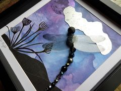 Night Flight, Beaded Dragonfly Box Frame - product images 4 of 5