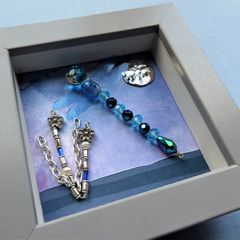 Beaded Beasties Turquoise Dragonfly Mini Box Frame - product images 4 of 5