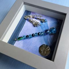 Beaded Beasties Turquoise Dragonfly Mini Box Frame - product images 2 of 5