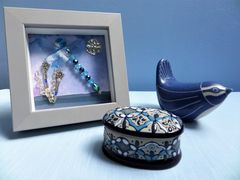 Beaded Beasties Turquoise Dragonfly Mini Box Frame - product images 5 of 5