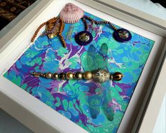 Exotic Waters, Beaded Dragonfly Box Frame - product images 5 of 5