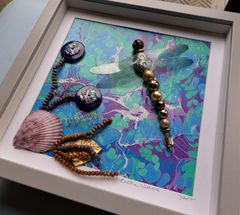 Exotic Waters, Beaded Dragonfly Box Frame - product images 2 of 5
