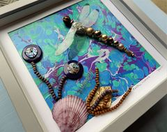 Exotic Waters, Beaded Dragonfly Box Frame - product images 3 of 5