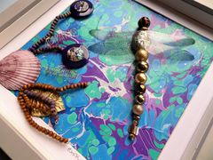Exotic Waters, Beaded Dragonfly Box Frame - product images 4 of 5