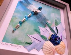 Maritime Meanderings, Beaded Dragonfly Box Frame - product images 3 of 5
