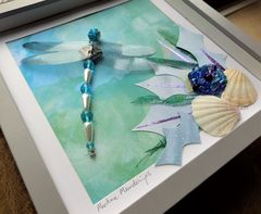 Maritime Meanderings, Beaded Dragonfly Box Frame - product images 2 of 5
