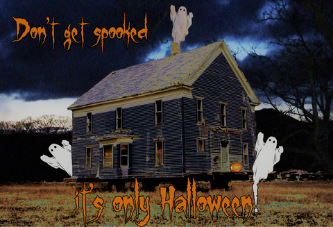 Haunted,House,Halloween,Card, halloween card, scary card, spooky card, ghost card, greetings card, digitalimaginings, digital image, halloween image, child's halloween card, halloween cards for children