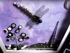 Mysterious Moonlight, Beaded Dragonfly Box Frame - product images 4 of 5