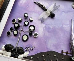Mysterious Moonlight, Beaded Dragonfly Box Frame - product images 2 of 5