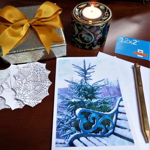 Snowy,Repose,Winter/Christmas,Card,christmas card, greeting card, snow scene, winter card,