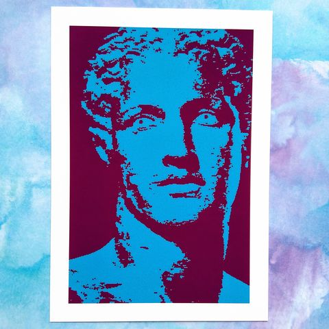 'Belus',Print,of,the,Greek,God,digital print, ancient Greece, mythology, classical history, figurative art, male head and shoulders, wall art
