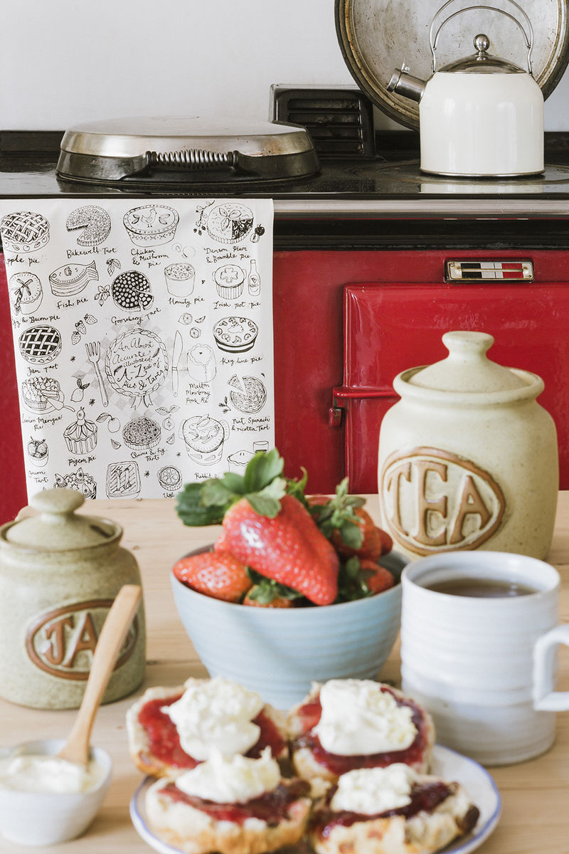 Pies and Tarts Tea Towel - product images  of