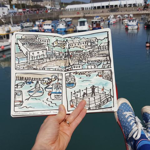 Sketch,Workshops,Porthleven,Food,Festival,Friday,26th,April,workshop, adult, illustration, art class, sketchworkshop, cornwall, porthleven