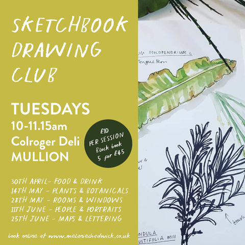 Sketchbook,Drawing,Club,|,30th,April,-25th,June,workshop, adult, illustration, art class, sketchworkshop, cornwall, mullion